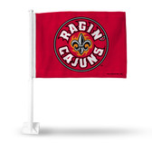 Louisiana Lafayette Ragin Cajuns Car Flag