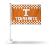 Tennessee Volunteers Checkerboard Car Flag