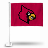 Louisville Cardinals Primary Logo Red Car Flag