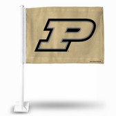 Purdue Boilermakers Gold Car Flag
