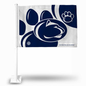 Penn State Nittany Lions Paw Background Car Flag