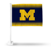 Michigan Wolverines Power M Blue Car Flag