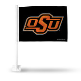 Oklahoma State Cowboys Black Car Flag