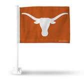 Texas Longhorns on Orange Background Car Flag