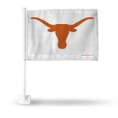 Texas Longhorns White Logo Car Flag