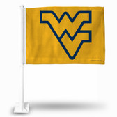 West Virginia Mountaineers Yellow Background Car Flag