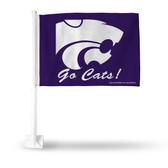 Kansas State Wildcats GO CATS Car Flag