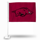 Arkansas Razorbacks Red Car Flag