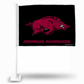 Arkansas Razorbacks Black and Red Car Flag