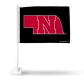 Nebraska Cornhuskers Black Car Flag