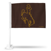 Wyoming Cowboys Car Flag #2