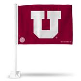 Utah Utes Red and White Car Flag