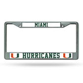 Miami Hurricanes Chrome Frame