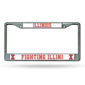 Illinois Fighting Illini Chrome Frame