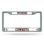 Wyoming Cowboys Chrome Frame