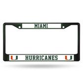 Miami Hurricanes DARK GREEN COLORED Chrome Frame