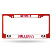 Georgia Bulldogs RED COLORED Chrome Frame