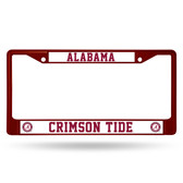 Alabama Crimson Tide MAROON COLORED Chrome Frame