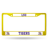 LSU Tigers YELLOW COLORED Chrome Frame