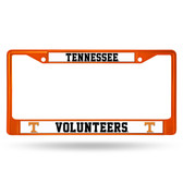 Tennessee Volunteers ORANGE COLORED Chrome Frame