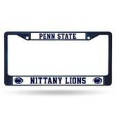 Penn State Nittany Lions NAVY COLORED Chrome Frame
