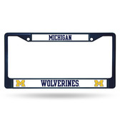 Michigan Wolverines NAVY COLORED Chrome Frame