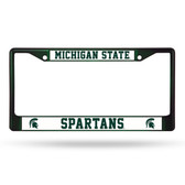 Michigan State Spartans DARK GREEN COLORED Chrome Frame