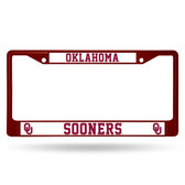Oklahoma Sooners MAROON COLORED Chrome Frame