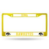 Iowa Hawkeyes YELLOW COLORED Chrome Frame