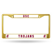 USC Trojans GOLD COLORED Chrome Frame