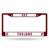 USC Trojans MAROON COLORED Chrome Frame