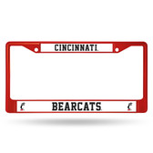 Cincinnati Bearcats COLORED Chrome Frame RED