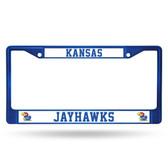 Kansas Jayhawks BLUE COLORED Chrome Frame
