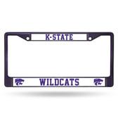 Kansas State Wildcats PURPLE COLORED Chrome Frame