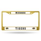 Missouri Tigers GOLD COLORED Chrome Frame