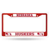 Nebraska Cornhuskers RED COLORED Chrome Frame