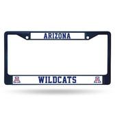 Arizona Wildcats NAVY COLORED Chrome Frame