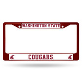 Washington State Cougars MAROON COLORED Chrome Frame