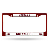 Montana Grizzlies MAROON COLORED Chrome Frame