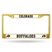 Colorado Buffaloes GOLD COLORED Chrome Frame
