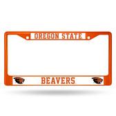 Oregon State Beavers ORANGE COLORED Chrome Frame