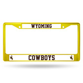 Wyoming Cowboys YELLOW COLORED Chrome Frame