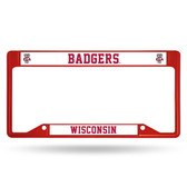 Wisconsin Badgers  INVERTED RED COLORED Chrome Frame