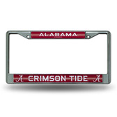 Alabama Crimson Tide Bling Chrome Frame