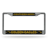 Southern Miss Golden Eagles Bling Chrome Frame