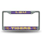 LSU Tigers Bling Chrome Frame