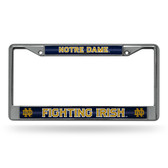 Notre Dame Fighting Irish Bling Chrome Frame