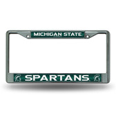 Michigan State Spartans Bling Chrome Frame
