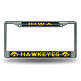 Iowa Hawkeyes Bling Chrome Frame
