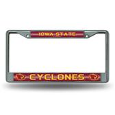Iowa Hawkeyes State Cyclones Bling Chrome Frame